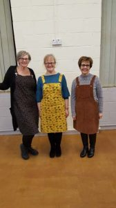 General dressmaking class, lotf of students made Tilly and the Buttons Cleo dresses