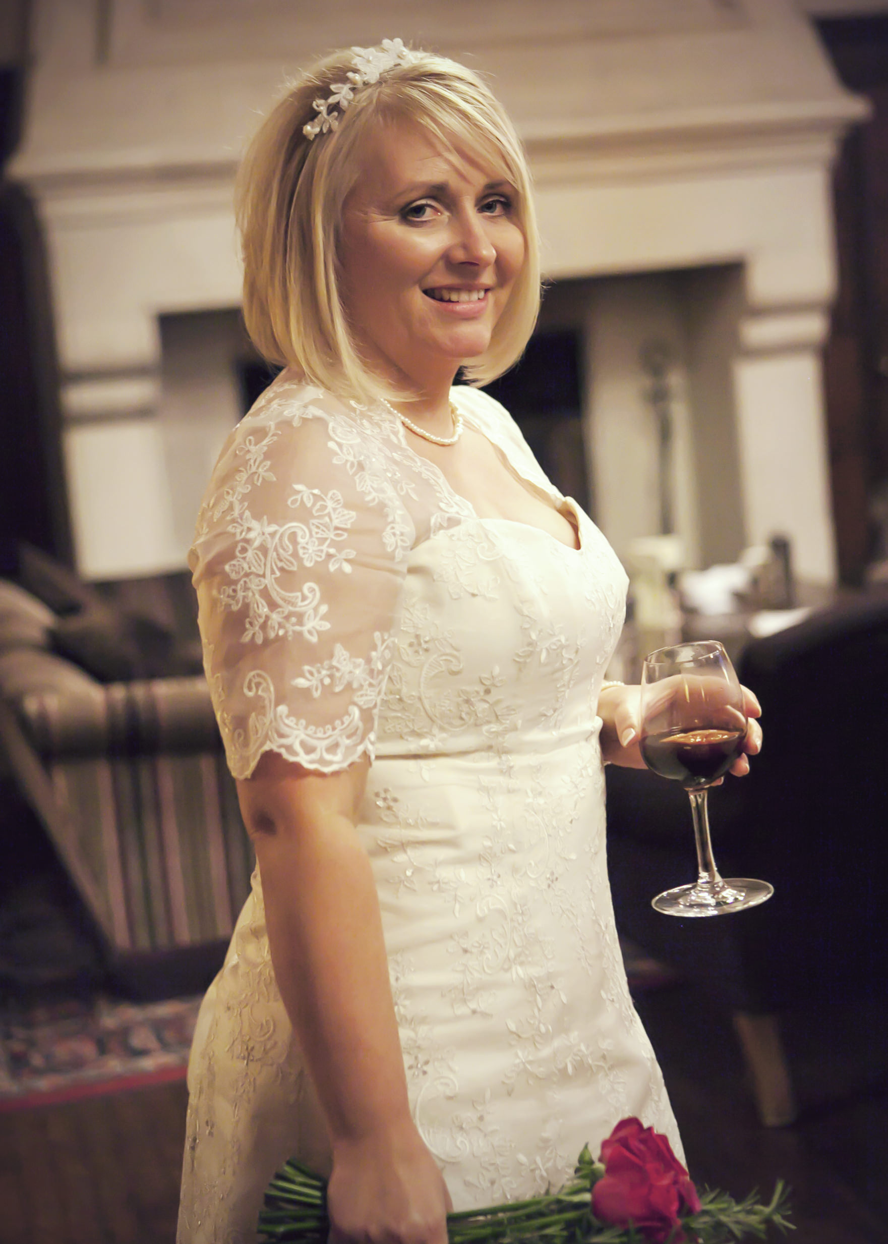 Bespoke lace wedding dress