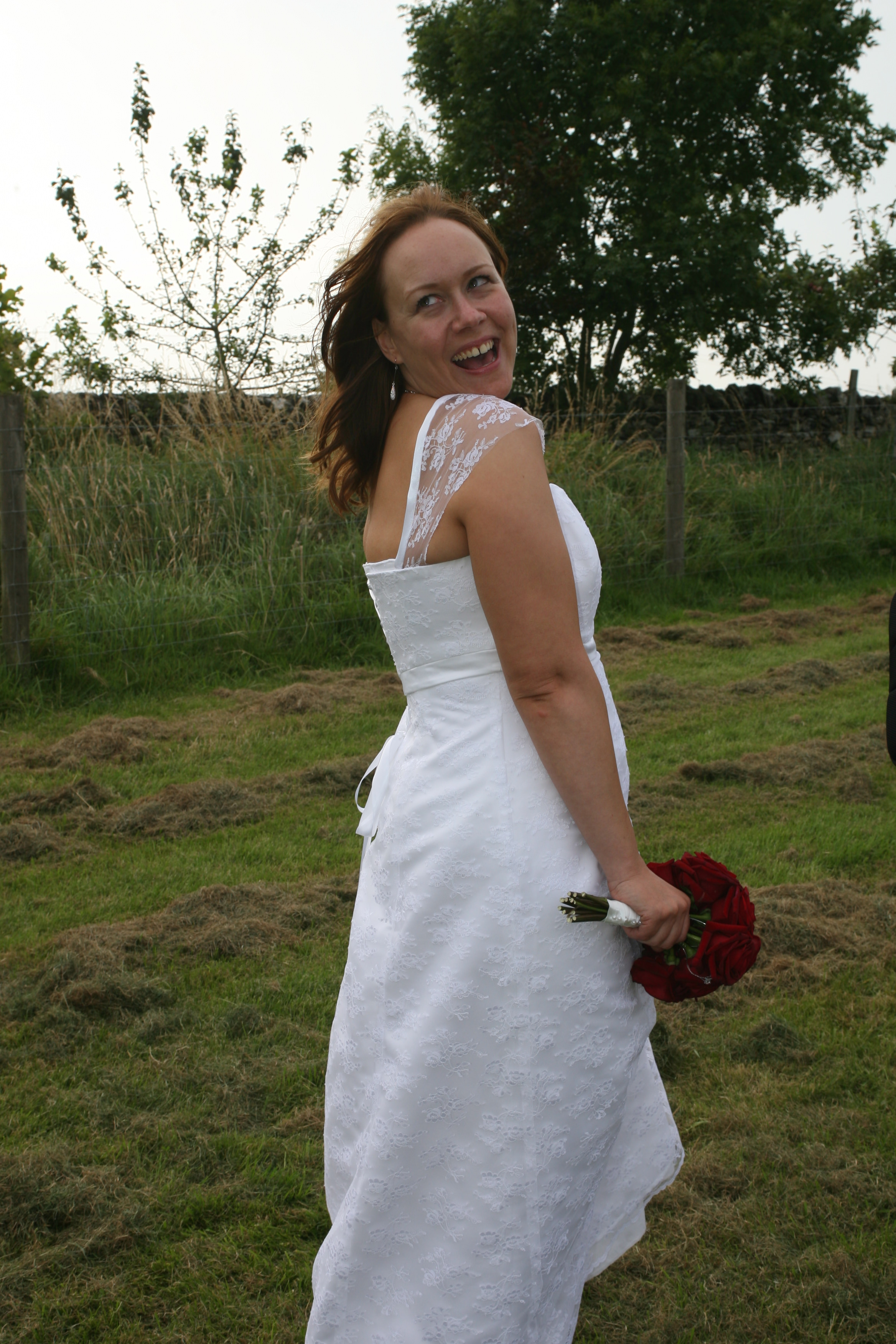 Quirky bespoke wedding gown