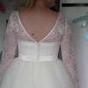 lace and tulle bespoke wedding dress