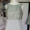 Bespoke embroidered silk wedding dress