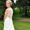 bespoke wedding gown in lace and swarovski crystal