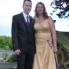 Bespoke golden satin wedding gown