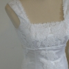 Hand appliqued lace wedding dress