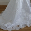 Stunning applique lace hem