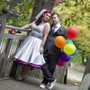 rainbow wedding gown with petticoat