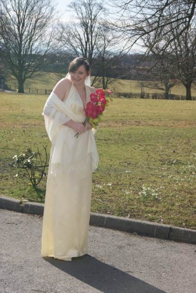 bespoke Gretna Green wedding gown