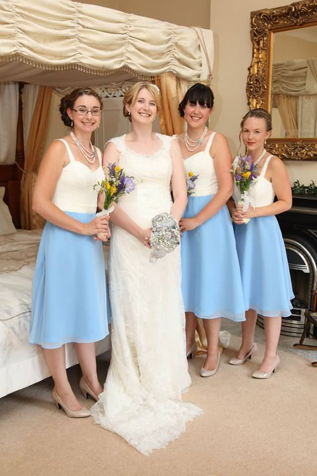 Vintage style bespoke bridesmaid dresses