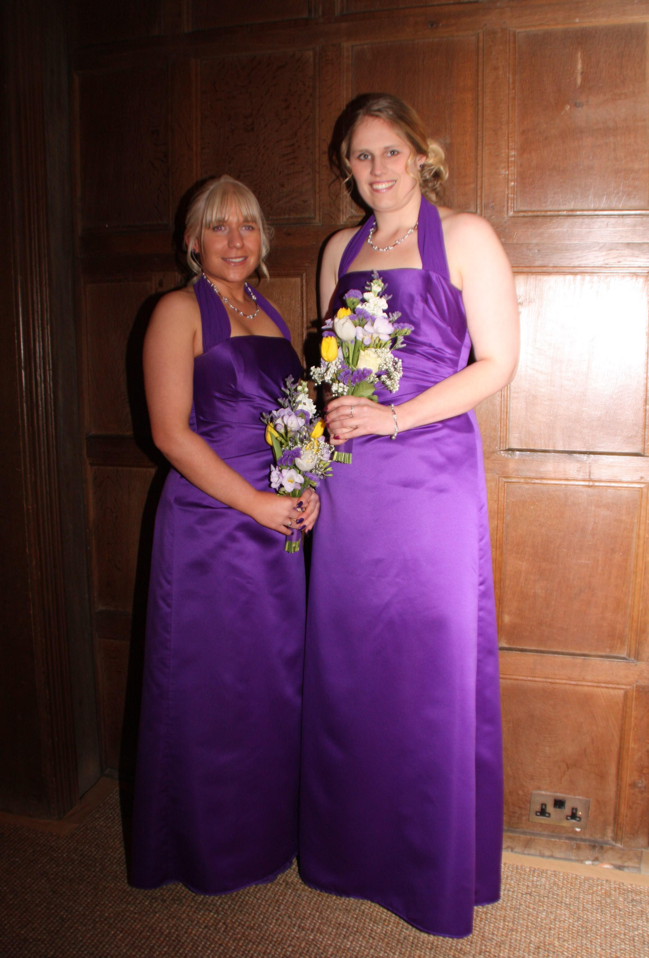 Purple bespoke bridesmaid dresses