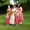 Shot taffeta bespoke bridesmaids dresses