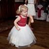 Bespoke polka dot flower girl dress