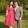 Bespoke 50's style polka dot bridesmaids dresses