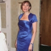 Royal blue satin bespoke bridesmaid dress and bolero jacket