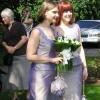Shot silk bespoke bridesmaids dresses
