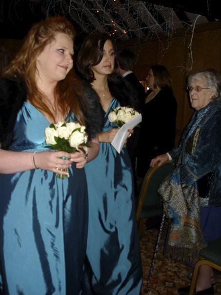 Crepe de chine bespoke bridesmaids dresses