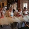 Tulle rainbow bespoke flower girl dresses
