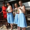 Bespoke vintage style bridesmaid dresses