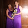 Purple bespoke bridesmaid dresses