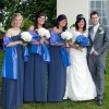 Steel grey bespoke bridesmaids dresses