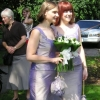 Shot silk bespoke bridesmaids dresses