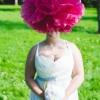 Pastel rainbow themed wedding dress