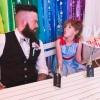 Alternative groom and bridesmaid